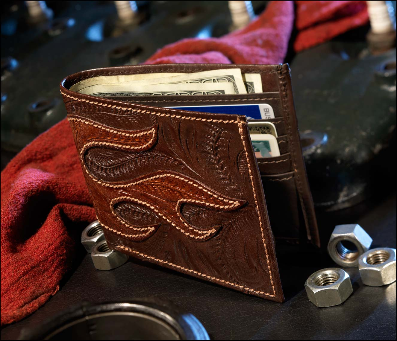 Hotrod Leather Wallet